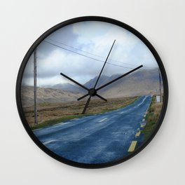 On the road.  Wall Clock