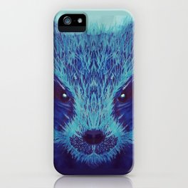 Blue Honey Badger iPhone Case