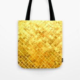 Give me Gold: festive, golden, fashionable, 3-d, glittery, Christmas, cheerful, lattice design Tote Bag