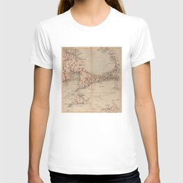 Vintage Map of Cape Cod MA (1905) T-shirt