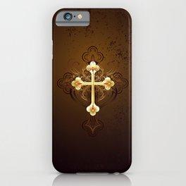Golden Cross iPhone Case
