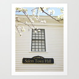 Salem, NH in Spring Art Print
