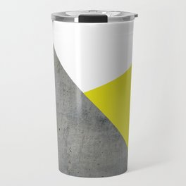 Concrete vs Corn Yellow Travel Mug
