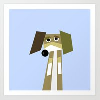 beagle Art Prints featuring Beagle  by They Come Along