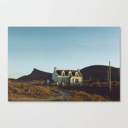 white house by the hill Canvas Print