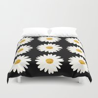 daisy Duvet Covers featuring Daisy by nessieness