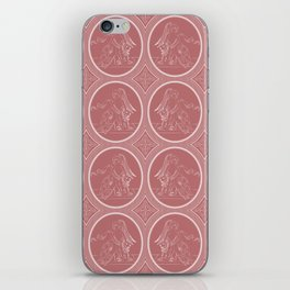 Grisaille Rose Red Neo-Classical Ovals iPhone Skin