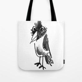 Wide-eyed Bird Tote Bag