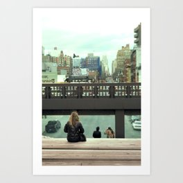 Lonely heart at High Line Art Print
