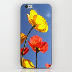 Happy Poppies iPhone & iPod Skin
