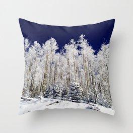 Winter Aspens Throw Pillow