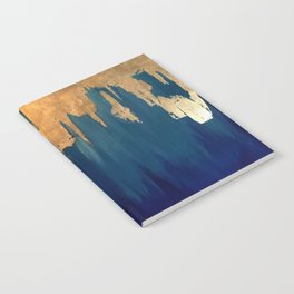 Gold Leaf & Blue Abstract Notebook