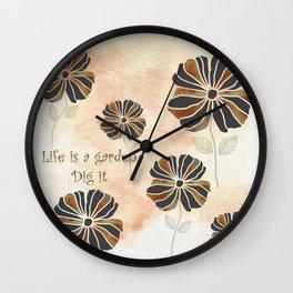 Life is a Garden Wall Clock