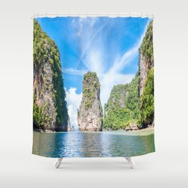 Islets in Phang Nga Bay Shower Curtain