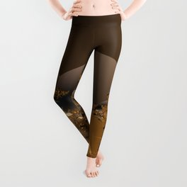 Golden Taste of Chocolates Leggings