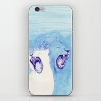 lions iPhone & iPod Skins featuring Two Lions by Fatma
