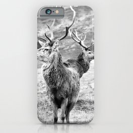 Stags - b/w iPhone Case