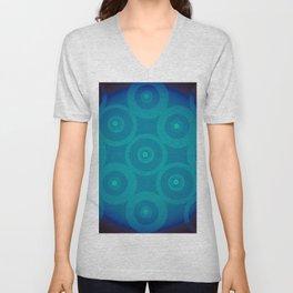 Blue To Black Unisex V-Neck