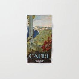 Isle of Capri Italian travel ad Hand & Bath Towel