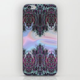 Holographic Embroidery Fringe Print iPhone Skin
