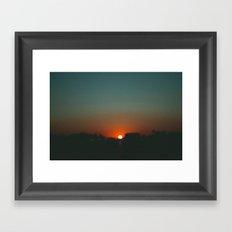west at sunset Framed Art Print