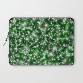 Green Christmas Lights Laptop Sleeve