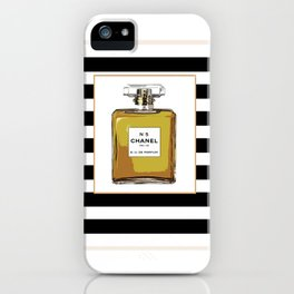 Fashion Art French Decor Fashion IllustrationPrint Perfume,Perfume Print Coco Mademoiselle Fashionis iPhone Case