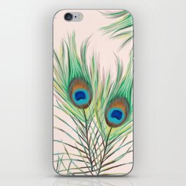 Unique Peacock Feathers Pattern iPhone Skin