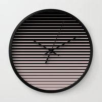 plain Wall Clocks featuring plain lines by My Big Fat Brand