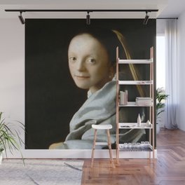 Johannes Vermeer - Portrait of a Young Woman Wall Mural