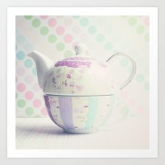 Tea for One (mother's pottery) Art Print