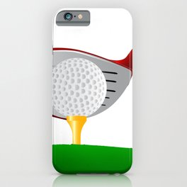 Teeing Off Golf iPhone Case