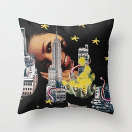 Under the City Throw Pillow