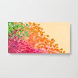 CREATION IN COLOR Autumn Infusion - Colorful Abstract Acrylic Painting Fall Splash Ombre Ocean Waves Metal Print
