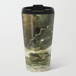Water vs City Metal Travel Mug