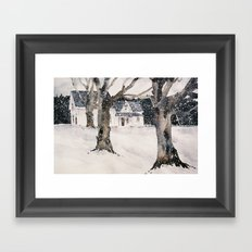 February snow Framed Art Print