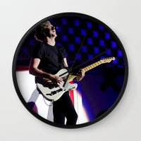 niall horan Wall Clocks featuring Niall Horan on Stage by tescotommo