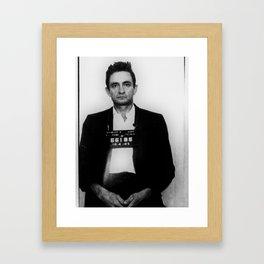 Johnny Cash MugShot Framed Art Print