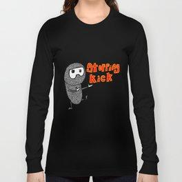 Kung Fu Stopping Kick Long Sleeve T-shirt