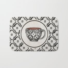 Moroccan Boho Pattern Coffee Mug Bath Mat