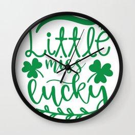 Little Miss Lucky Wall Clock