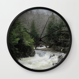 The River Runs Wall Clock