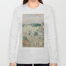 Hanging the Laundry out to Dry by Berthe Morisot Long Sleeve T-shirt
