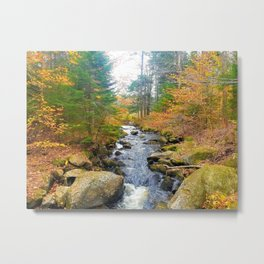 Vermont in Fall Metal Print