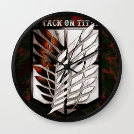 Attack on Titan Corps Wall Clock