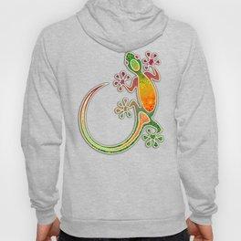 Gecko Floral Tribal Art Hoody