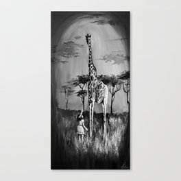 REACHING FOR HAPPINESS irl with giraffe Canvas Print