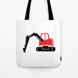 Mechanical Excavator Digger Retro Icon Tote Bag