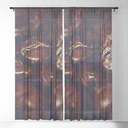 big coffee beans splatter watercolor Sheer Curtain