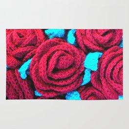Crocheted Roses Rug
